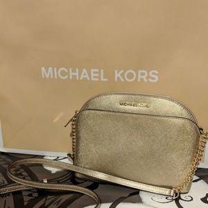 Michael Kors Emmy Leather Crossbody, Medium